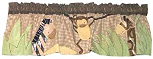Lambs & Ivy Baby Cocoa Window Valance, Chocolate/Beige (Discontinued by Manufacturer)