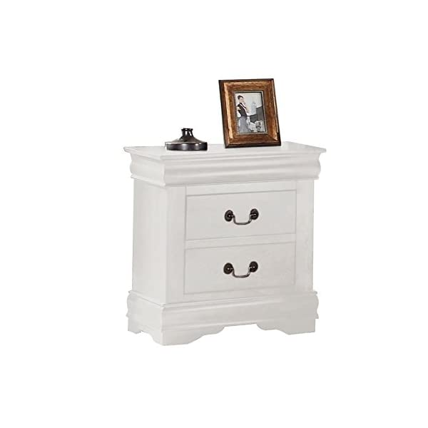 ACME Louis Philippe Nightstand - 23863 - Antique Gray