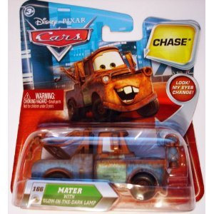 DISNEY PIXAR MOVIE CARS CHASE MATER WITH MOVING EYES THAT COMES WITH A GLOW IN THE DARK LANTERN by Disney
