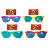 1 Pair of Giant Assorted Colour Plastic Sunglasses Fancy Dress