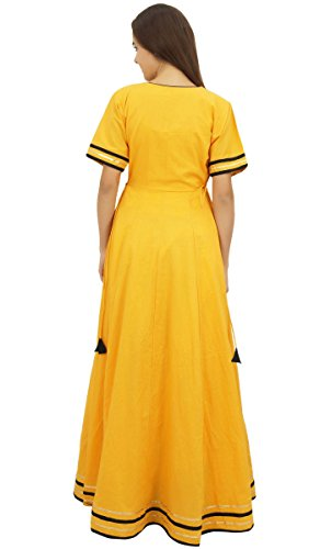 Dress Coton Long Classy Clothing Kurta Jupe Indian Moutarde Mustard Bimba qEYxgg