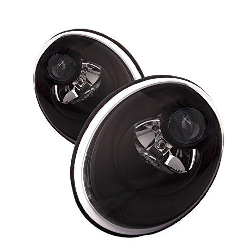 (PERDE Compatible with VW Beetle Black Halogen Type Headlights Set)