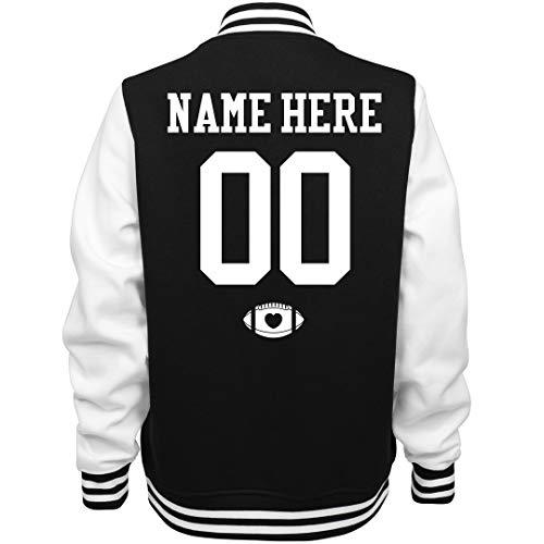Varsity Football Mom Custom Name: Ladies Fleece Letterman Varsity Jacket -