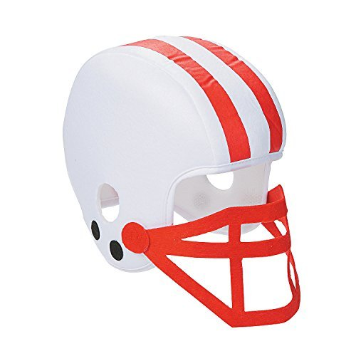 Team Color Cheerleading Soft Football Helmet Sports Fan SPIRIT Hat (RED)