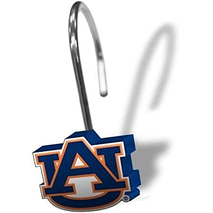 NCAA Auburn Tigers 12 Piece Shower Curtain Ring Set