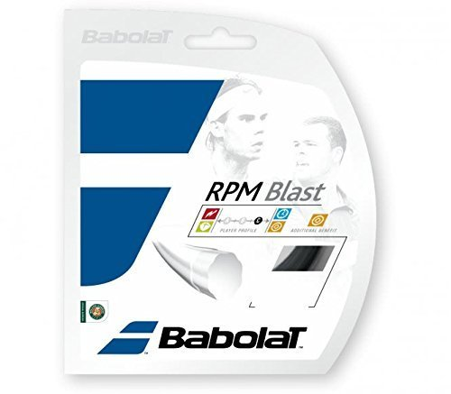 RPM Blast Black 17g Strings (17 Tennis Racquet String)