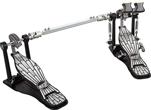 ddrum MDBP Mercury Double Bass Drum Pedal, Chrome and Black