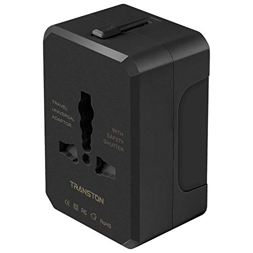 Travel Adapter, Worldwide All in One Universal Travel Plug Adapter AC Power Plug International Wall Charger for USA EU…
