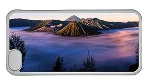 Cheap iphone stylish case Indonesia Java volcano Tengger morning fog PC Transparent for Apple iPhone 5C