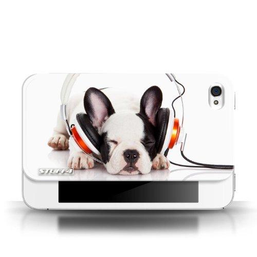 Coque en plastique pour Apple iPhone 4/4S Collection Animaux comiques - Chien somnolent