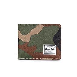Herschel Supply Co. Hank Coin Wallet, Woodland Camo/Black Pup, One Size
