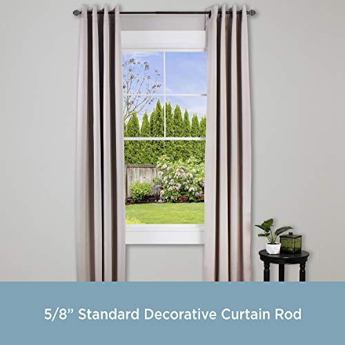"Kenney Beckett 5/8"" Standard Decorative Window Curtain Rod, 28-48"", Oil Rubbed Bronze"