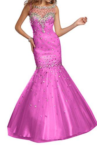 Damen Ivydressing Fuchsie Steine Tuell Meerjungfrau Abendkleid Stil F4xawBq4