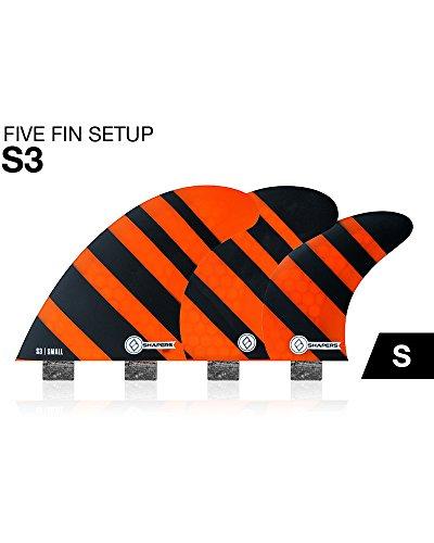 FCS Shapers Fins Corelite S3 small five fin quad/tri set ...