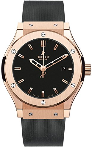 LADIES HUBLOT CLASSIC FUSION 38MM RED GOLD WATCH BOX/PAPERS