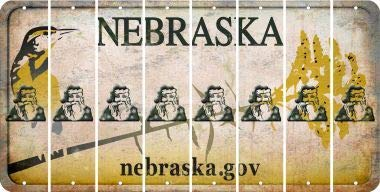- Bargain World Nebraska Santa Cut License Plate Strips (Set of 8) (Sticky Notes)