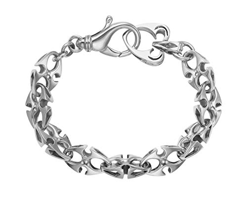 (Wildthings Ltd Sterling Silver Anchor Chain Link Bracelet 9