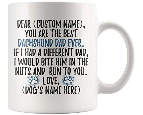 (Personalized Dachshund Dad Gifts, Doxie Owner Mug, Dachshund Gifts For Men, Daschund Mug, Dachshund Dad Present Gift, Wiener Dog Dad (11 oz))