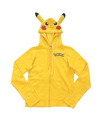 Womens I Am Pikachu Pokemon Hoodie (Womens I Am Pikachu Hoodie Small)