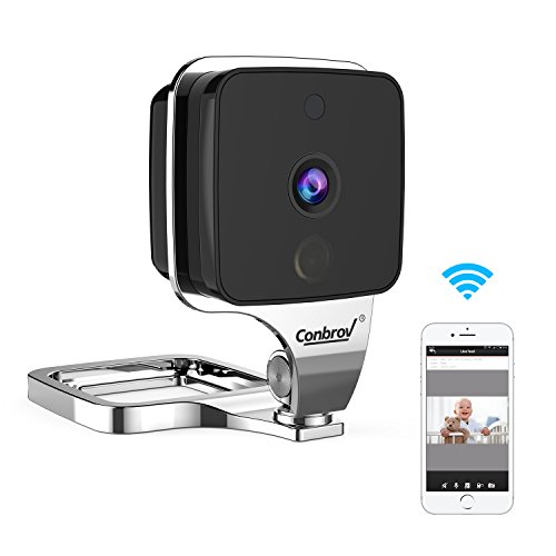 Wireless Camera, Conbrov 720P WiFi Camera Mini IP Camera Baby Monitor with Two-Way Audio, Motion Detection and Night Vison, 155 Degree Wide Viewing Angle Nanny Cam for Home Security System