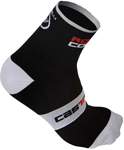 Unisex Castelli Rosso Corsa 9 Cycling Sock-Black-US Size L/XL