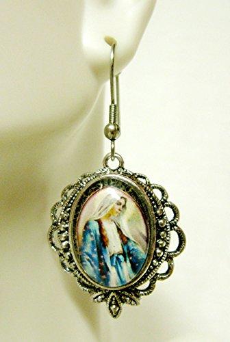 Miraculous medal earrings - AP06-528 ()