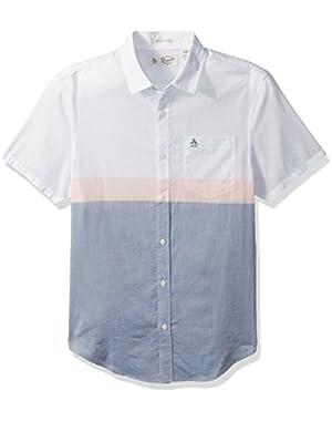 Men's Short Sleeve Colorblock Lawn