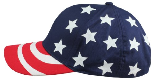 DALIX Hat Pro-Style USA Stars and Stripes Cap American Patriotic Caps (Cap Hat Stripe)