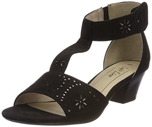Softline Women's 28362 Ankle Strap Sandals Black HPPZkzx