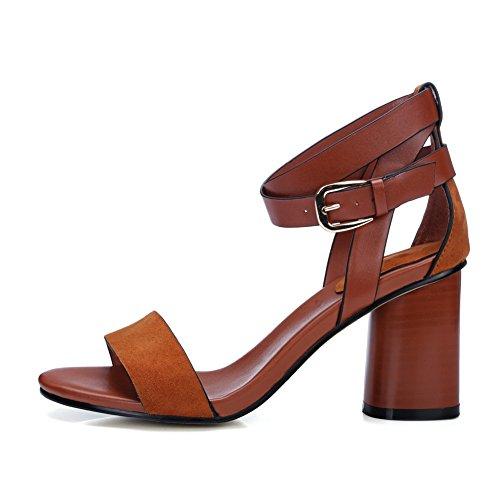 Bruine sandalen 1to9 1to9 damesjurk Bruine q6zpq0Zwx