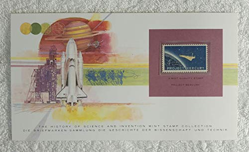 Project Mercury - Postage Stamp (United States, 1962) & Art Panel - The History of Science & Invention - Franklin Mint (Limited Edition, 1986) - First American in Orbit, NASA, Space Exploration