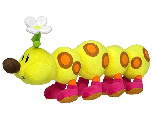 Little Buddy Super Mario Bros. All Star Collection Stuffed Plush 1593 Wiggler/Hanacha Toy, -