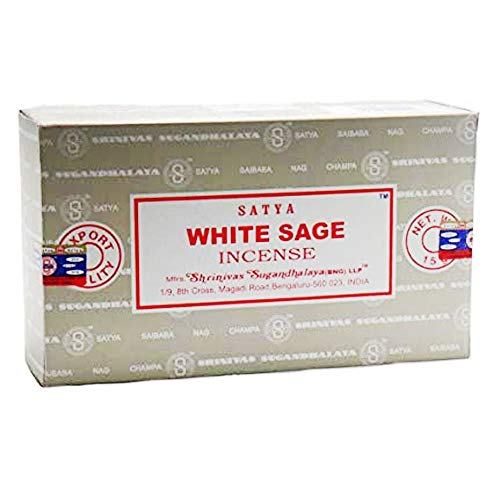 - Title: Satya Nag Champa White Sage Fragrance Incense Sticks-12packs x 15grams (1)