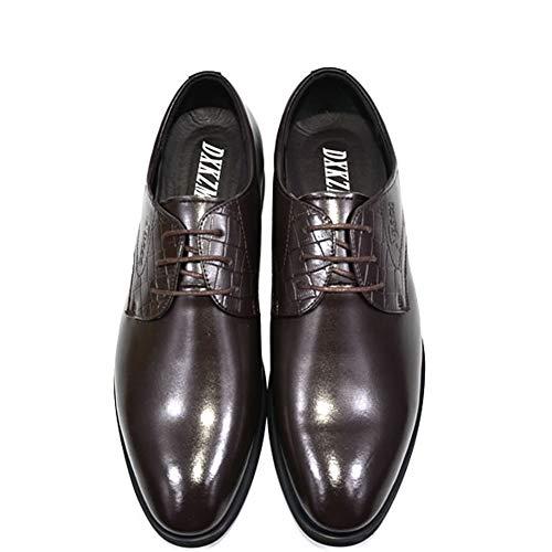 Con Para Brown Zapatos Hechos Hombre Vestir Negocios Cuero De A Cordones Hombres Oxfords Mano aIPOIqwS