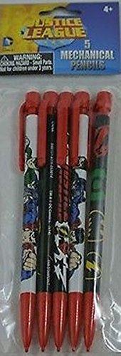Pack of 5 Justice League Mechanical Pencils