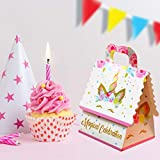 Unicorn Party Favor Gift Bags - Pack of 20 Goodie Treat Bag for Girls| Candy, Party Favors Bag Fillers for Unicorn Themed Birthday Party Supplies Decorations or Baby Shower