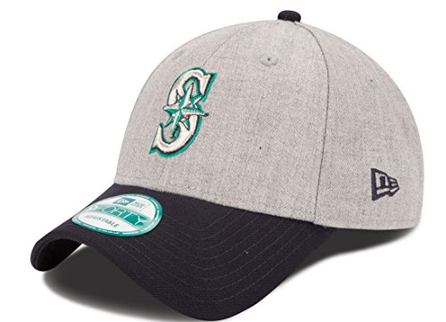 New Era MLB Seattle Mariners The League Heather 9FORTY Adjustable Cap, One Size, Gray ()
