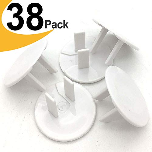 - Outlet Covers ChildProof Plug Protector - VMAISI Baby Proofing Electrical Safety Outlet Plugs - (White, 38 Pack)