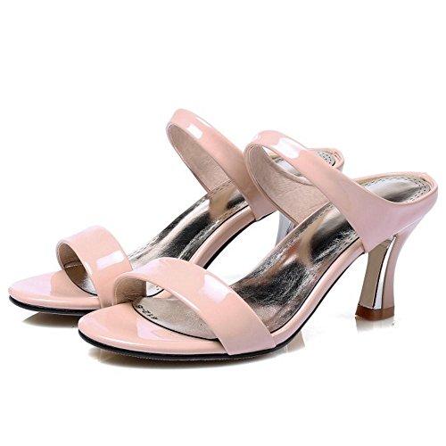RAZAMAZA pink A Femmes Sandales Enfiler xO1vY