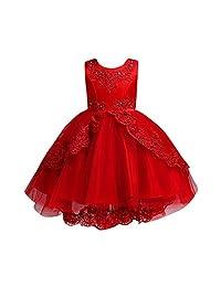 ZEFOTIM Baby Girls Cute Dress,Toddler Kids Girls Wedding Flower Dress Lace Princess Party Formal Dress Clothes 4-12T
