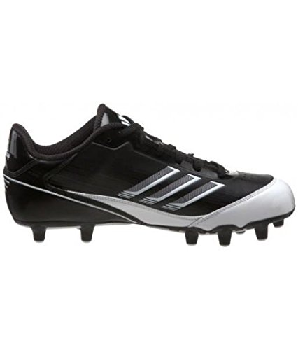 adidas Men's Scorch X SuperFly Low Football Cleat,Black/White/Metallic Silver,13.5 M US