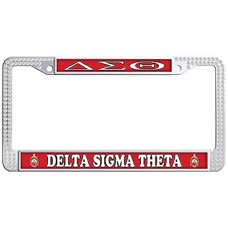 Amazon.com: Dasokao DELTA SIGMA THETA Cute License Plate Frame ...