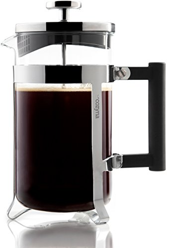 Cozyna French Press Coffee Maker, 34 oz, 8 Cup, 1 L, Eden