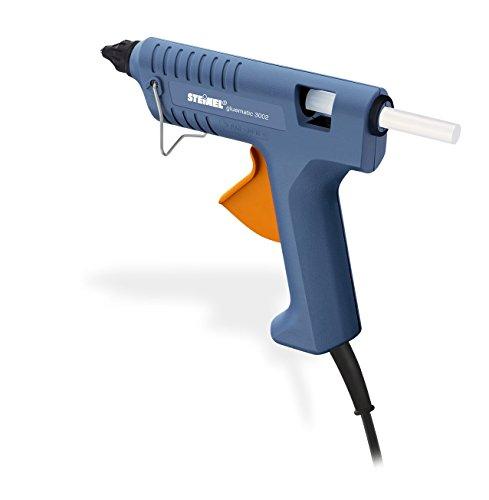 Steinel Heißklebe-Pistole Gluematic 3002, Förderleistung 16 g/min, moderne PTC-Heiztechnik, Inklusive 3 ULTRA Power Klebesticks 11 mm, Ideale Klebepistole für Haushalt, Hobby und Handwerk, 333317