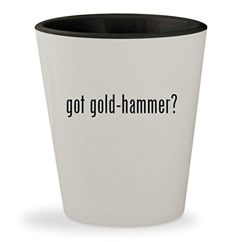 got gold-hammer? - White Outer & Black Inner Ceramic 1.5oz Shot (White Goldhammer)