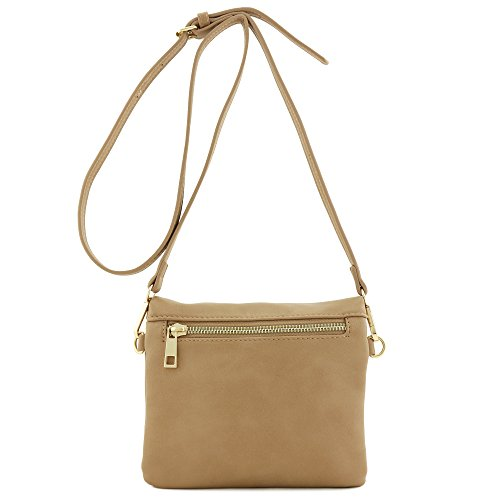 Mini Flap Triple Bag Crossbody Khaki Compartment 5pqaqFx8