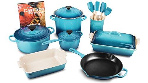 Le Creuset 16-piece Cookware Set (Caribbean)