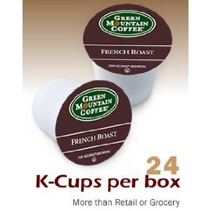 Green Mountain Coffee French Roast, K-Cup Portion Pack for Keurig K-Cup Brewers, 24-Count