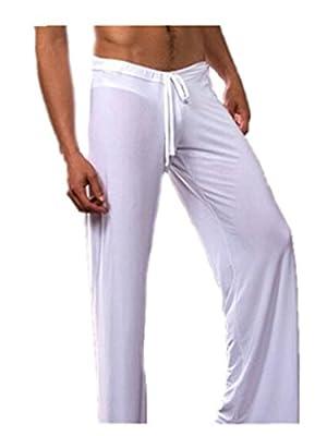 Leright Men's Yoga Long Pants Loose-Fitting Pajama Trousers Lounge Sleep Pants