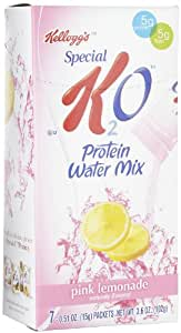 Kellogg's Special K K2O Protein Water Mix, Pink Lemonade, 7 packets